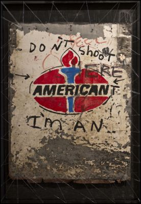 STRYCHNIN Gallery - Greg Haberny -   DONT' SHOOT I'M AN AMERICANT
