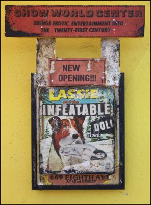 STRYCHNIN Gallery - Greg Haberny - LASSIE AND THE INFLATABLE DOLL