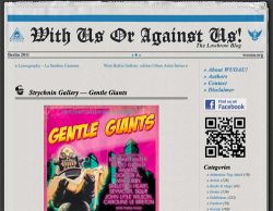 Gentle Giants show featured on 'With us or against us'